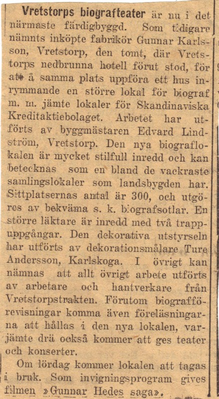 Tidningsurklipp 1925