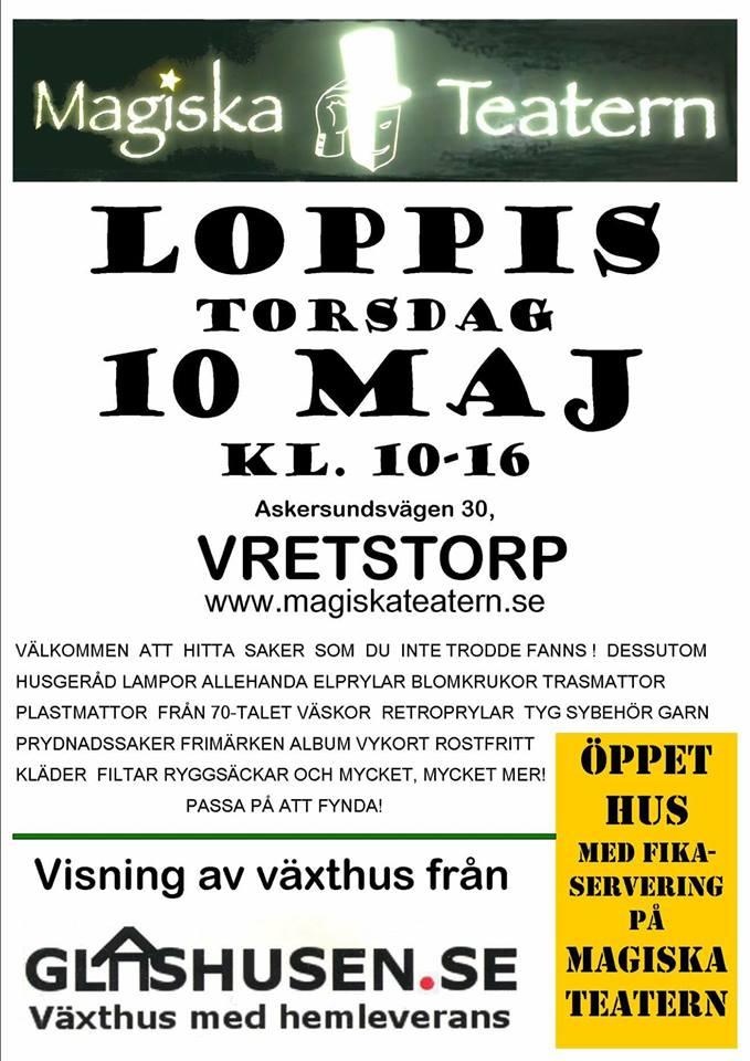 Loppis vid Magiska Teatern Magiska Teatern i Vretstorp